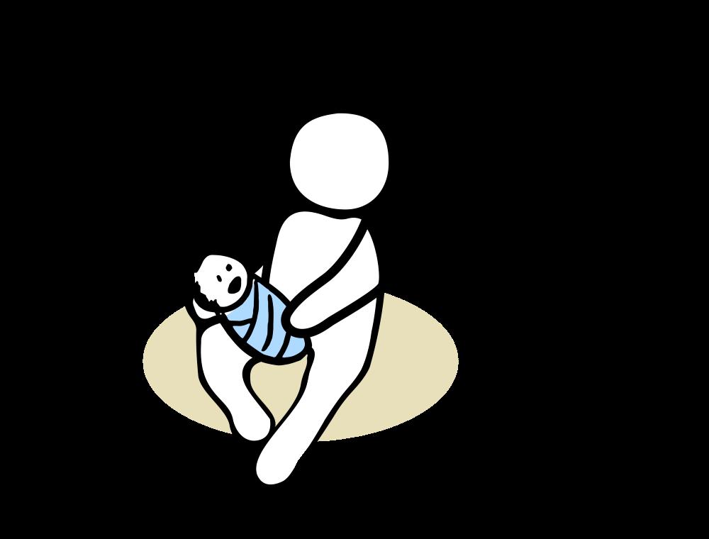Musikkurse für Babys in Fürth - Grafik mit einer Mutter und ihrem Baby auf dem Arm