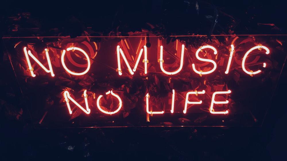 No music, no life Schriftzug